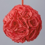 CORAL Silk pomander flower ball